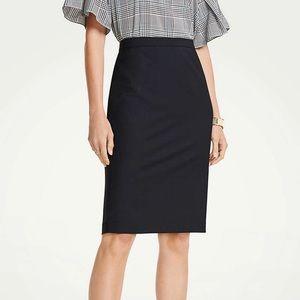 New! Ann Taylor Navy Pencil Skirt - 0P